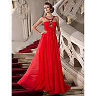 Kappe / kolonnebånd gulvlængde chiffon prom kjole med perle af ts couture®