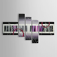 El-Boyalı Soyut Beş Panelli Kanvas Hang-Boyalı Yağlıboya Resim For Ev dekorasyonu