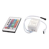 24-knapps fjernkontroll for rgb led strip lights (12v) høy kvalitet