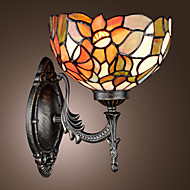 billige Utendørs Lampeskjermer-tiffany vegg lys med en lys i floral mønstrede skyggen