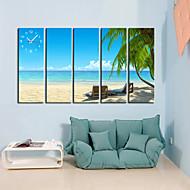 billige Veggklokker-moderne stil naturskjønne veggur i canvas 5stk K177
