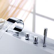 billige Sprinkle®-kraner-Sprinkle® - ved lightinthebox - foss badekar og hånddusj (buede formen design)
