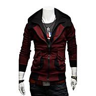 男性のパーカーのコントラストカラーの因果薄いジャケット