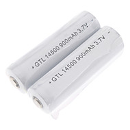 14500 Batteries 900 mAh for Camping/Hiking/Caving