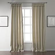 billige Gardiner-To paneler Window Treatment Moderne , Solid Stue Lin/Bomull Blanding Materiale gardiner gardiner Hjem Dekor For Vindu