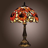 זול מנורות-Tiffany-style Sunflowers Bronze Finish Table Lamp(0923-TF3)
