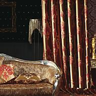 İki Panel Pencere Tedavi Avrupa Neoklasik Yatakodası Polyester Malzeme Perdeler Perdeler Ev dekorasyonu For pencere