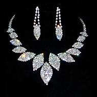 Takı Seti Kadın's Yıldönümü / Doğumgünü Mücevher Setleri alaşım / Yapay Elmas Yapay Elmas Kolyeler / Kolczyki Resimdeki gibi
