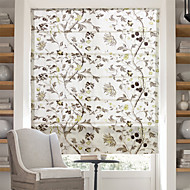 cheap Blinds & Shades-Chinese Floral Paintings Jacquard Roman Shade