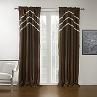 To paneler Window Treatment Moderne , Ensfarget 100% Polyester Polyester Materiale Blackout Gardiner Hjem Dekor For Vindu