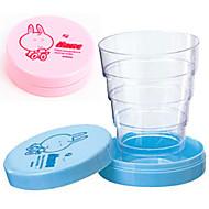 Cute Přenosný skládací teleskopická Cup (Random Color)