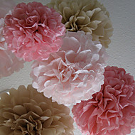 billige Papirsblomster-Bryllupsfest Blandet Materiale Bryllup Dekorationer Blomster Tema / Klassisk Tema Vinter Forår Sommer Efterår Alle årstider