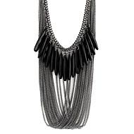 女性用 樹脂 合金 ステートメントネックレス - 樹脂 合金 多層式 ファッション ドロップ ネックレス 用途 パーティー