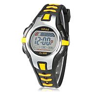 Infantil Relógio Esportivo Relógio de Moda Relogio digital Digital Alarme Calendário Cronógrafo LCD Borracha Banda Preta Vermelho Laranja