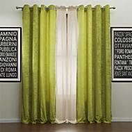 billige Luxury-Stanglomme Propp Topp Fane Top Dobbelt Plissert To paneler Window Treatment Moderne, Mønstret Ensfarget Polyester Materiale gardiner