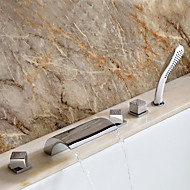 cheap Sprinkle® Faucets-Contemporary  with  Chrome Three Handles Five Holes  for Waterfall Widespread