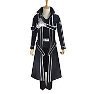Inspirado por Sword Art Online Kirito Anime Fantasias de Cosplay Ternos de Cosplay Cor Única Manga LongaCasaco Calças Luvas Cinto