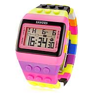 Žene digitalni sat Square Watch Šiljci za meso Alarm Kalendar Kronograf Šiljci za meso dame Šarm Moda - Pink / LCD