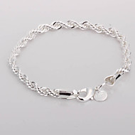 Twisted Alloy Silver Plated Dame Armbånd