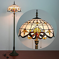 billige Lamper-Floor Lamp, 2 Light, Tiffany Karakteristisk Resin Glass lakkeringsmetode