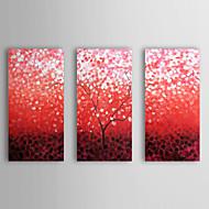 preiswerte Artist - L.Jason-Handgemalte Blumenmuster/Botanisch Horizontal Segeltuch Hang-Ölgemälde Haus Dekoration Drei Paneele