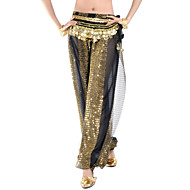 cheap Sale-Belly Dance Bottoms Women's Performance Chiffon Sequin Pants
