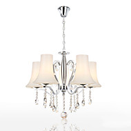 Chandelier Crystal Modern 5 Lights with Shades