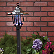 Purple and White Light LED Solar Light Mosquito Zapper Stake Light