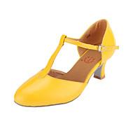 billige Moderne sko-Dame Moderne sko / Ballett Lakklær Høye hæler Utsvingende hæl Kan ikke spesialtilpasses Dansesko Fuksia / Rød / Lyseblå