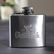 cheap Personalized Drinkware-Personalized Gift 2oz Metal Capital Letters Flask