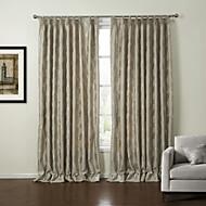 billige Gardiner-neoklassisk to paneler blad beige soverom polyester panelgardiner gardiner