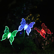 1pcs solar color-changing butterfly garden stake luz alta qualidade