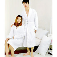 cheap Towels & Robes-Superior Quality Bath Robe, Solid Colored 100% Cotton Bathroom