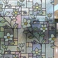 tanie סרטים ומדבקות לחלון-Folie okienne i naklejki Dekoracja Kraj Kwiaty PVC / Vinyl Folia okienna / Salon / Łazienka