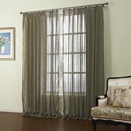 billige Gardiner ogdraperinger-neoklassiske to panelene solide brun stue sengetøy ren gardiner nyanser