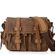 cheap Satchels-Unisex Bags Other Leather Type Canvas Satchel for Casual All Seasons Black Brown Green Khaki