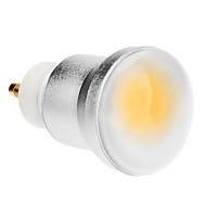 billige Globepærer med LED-1pc 3 W 150-180 lm GU10 LED-globepærer 1 LED perler COB Varm hvit 85-265 V