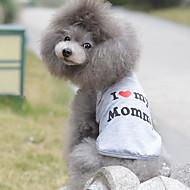 preiswerte Bekleidung & Accessoires für Katzen-Katze Hund T-shirt Hundekleidung Atmungsaktiv Niedlich Lässig/Alltäglich Geburtstag Herzen Grau Kostüm Für Haustiere