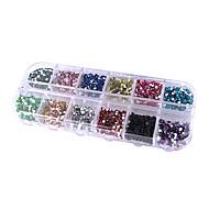 12 cores de unhas circular arte brilho dicas strass decorações