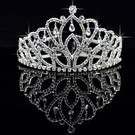 cheap Headpieces-Crystal Fabric Alloy Tiaras 1 Wedding Special Occasion Party / Evening Headpiece