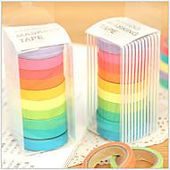学校/オフィス用のカラフルな虹のデザインテープ(10本セット)