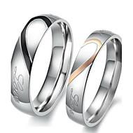 povoljno Modno prstenje-Žene Prstenje za parove Zaručnički prsten Pink Tikovina Srce Ljubav Vjenčan Vjenčanje Party Rođendan Angažman Dar Dnevno Voljeni Nakit