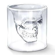 kühlen transparent kreative scary Schädel Kopf-Design Neuheit drink wine shot Glas Tasse 75ml