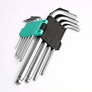 pro'skit hw-229b dlouhá kuličková hlava s klíčovým klíčem 9 ks