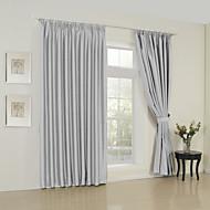 ieftine -Două Panouri Tratamentul fereastră Modern , Solid Sufragerie Poliester Material perdele, draperii Pagina de decorare For Fereastră