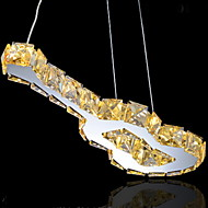gitar design anheng, 9 lys, kreativ rustfritt stål krystall galvanisering
