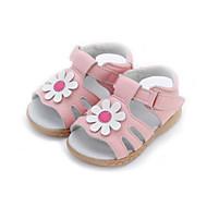 Sandály-Kůže-Pohodlné-Dívčí-Zelená / Růžová / Fialová / Bílá-Šaty / Běžné-Plochá podrážka