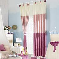 billige Gardiner-gardiner gardiner Soverom Stribe Polyester Mønstret