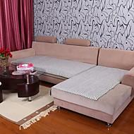 billige Overtrekk-elaine bomull hamp grå bordure sofa pute 333827