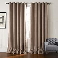 billige Mørkleggingsgardiner-To paneler Window Treatment Neoklassisk , Stribe Stue Polyester Materiale gardiner gardiner Hjem Dekor For Vindu